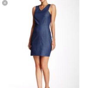 NWT Bobi Los Angeles Chambray Sheath Dress Large